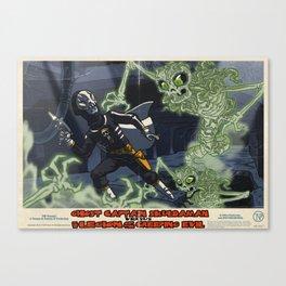 Ghost Captain Skuldaman Versus The Legion Of The Creeping Evil Canvas Print