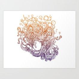 Sink or Swim Art Print