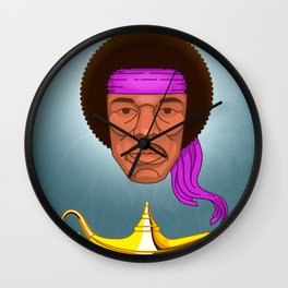 Hendrix portrait Wall Clock