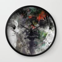 archan nair Wall Clocks featuring Another Memory by Archan Nair