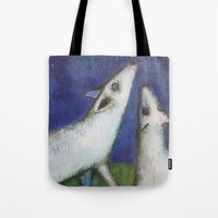 howl Tote Bags featuring Howl by cathie joy young