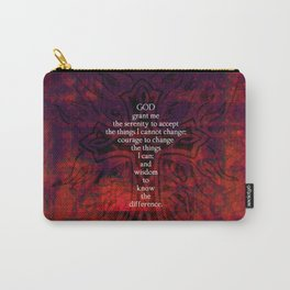 Serenity Prayer Inspirational Quote With Beautiful Christian Art Carry-All Pouch