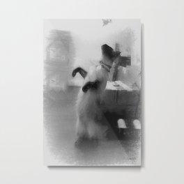 Dancing Cat Metal Print