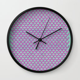 Mermaid Scales Violet Wall Clock
