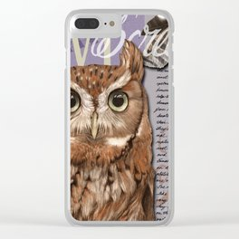 The Screech Owl Journal Clear iPhone Case