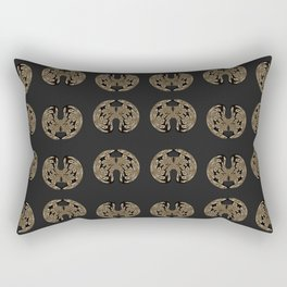 Odd order - Pattern of symmetric squeezed shapes Rectangular Pillow