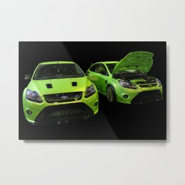Two Green Focus RS Metal Print