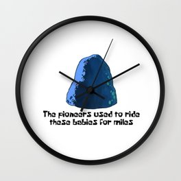 Babies For Miles Wall Clock