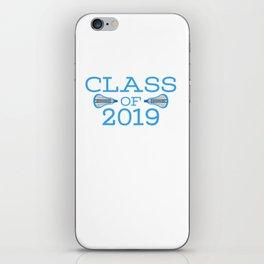 Class of 2019 Lacrosse - Blue iPhone Skin