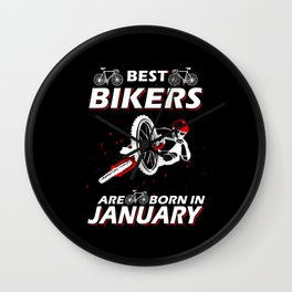 The Best Cyclists Born In January Wall Clock