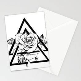Gometric rose Stationery Cards