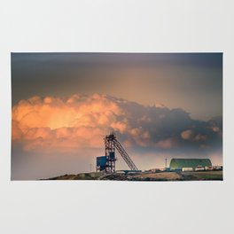 Old Copper Mine on Anglesey Rug