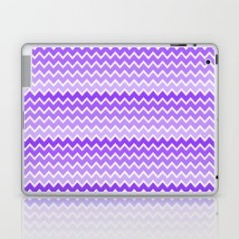 Purple Lavender Lilac Ombre Chevron Laptop & iPad Skin