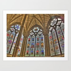 Windows of Westminster Abbey Art Print