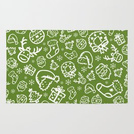 XMAS Green Pattern / Part Two Rug