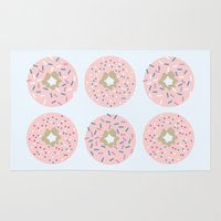 donuts Area & Throw Rugs featuring DONUTS by Carrianne Bullard