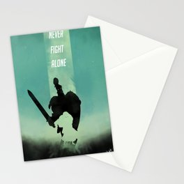 Never fight alone Stationery Cards