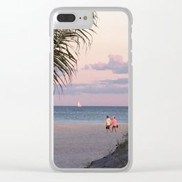 lovers on the beach Clear iPhone Case