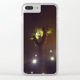 Joshua Tree Nightlights Clear iPhone Case