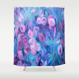 Pink and Blue Forest Shower Curtain