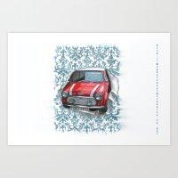 mini Art Prints featuring Mini by Magdalena Almero