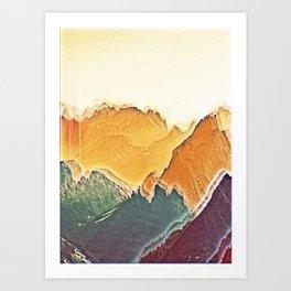 colour mountain Art Print