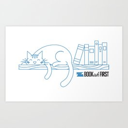 The Purrfect Reading Buddy Art Print