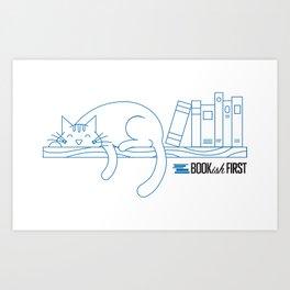 The Purrfect Reading Buddy Art Print