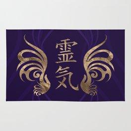Reiki Symbols- and hands - golden swirl Rug