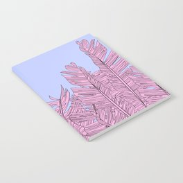 PINK TROPICAL LEAVES Notebook