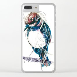 Wagtails Clear iPhone Case