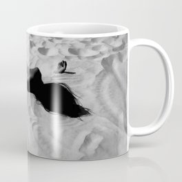 'All of Me' reclining nude brunette female form black and white photograph / art photography  Coffee Mug