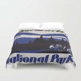 Vintage poster - National parks Duvet Cover