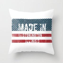 Made in Stonington, Illinois Throw Pillow