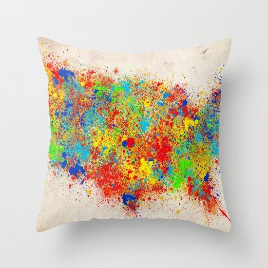 Throw Pillows Usa : USA Throw Pillow by Bekim ART Society6