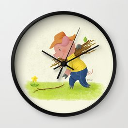 The Second Little Pig Wall Clock