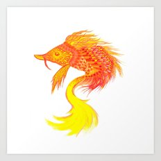 Fire fish Art Print