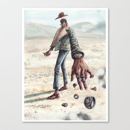 The Desert Man of Many Rings Canvas Print