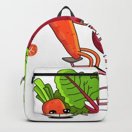Carrot and Beet Riding a Bicycle Backpack