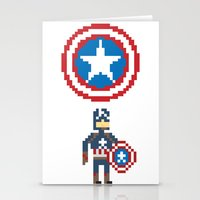 steve rogers Stationery Cards featuring Steve Rogers by Bryan