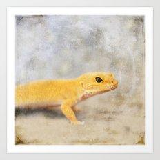 Portrait of a Leopard Gecko Art Print