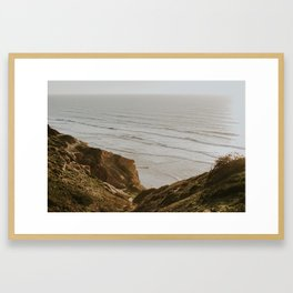 Cliffs at Torrey Pines Framed Art Print