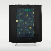 audi Shower Curtains featuring AFK by Hector Mansilla