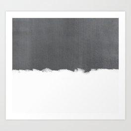 White Paint on Concrete Art Print