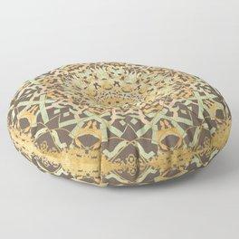 Golden Comfort Mandala Floor Pillow