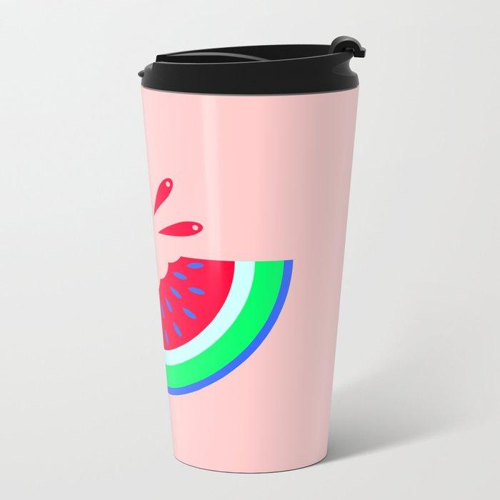 Super Fresh Watermelon Metal Travel Mug