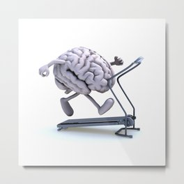 Training Brain Metal Print