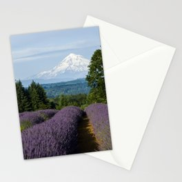 Lavender Fields & Mountain Views Stationery Cards
