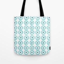 Baby Blue Evil Eye Tote Bag