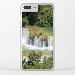 Czech waterfalls Clear iPhone Case